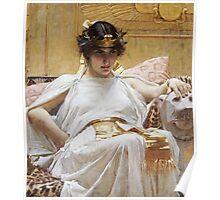 John William Waterhouse - Cleopatra . Woman portrait: sensual woman, girly art, female style, pretty women, femine, beautiful dress, cute, creativity, love, sexy lady, erotic pose Poster