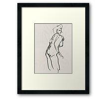 Paused Figure  Framed Print