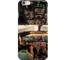 Night landing Amsterdam RWY 06 iPhone Case/Skin