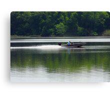 Speed Fishing Canvas Print