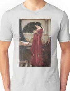 John William Waterhouse - The Crystal Ball . Woman portrait: sensual woman, girly art, female style, pretty women, femine, beautiful dress, cute, creativity, love, sexy lady, erotic pose Unisex T-Shirt