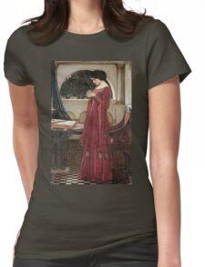 John William Waterhouse - The Crystal Ball . Woman portrait: sensual woman, girly art, female style, pretty women, femine, beautiful dress, cute, creativity, love, sexy lady, erotic pose Womens Fitted T-Shirt