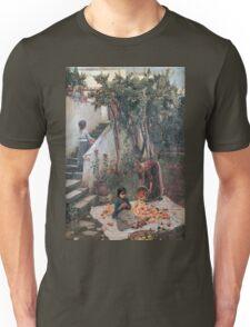 John William Waterhouse - The Orange Gatherers . Garden landscape: garden view, trees and flowers, blossom, nature, botanical park, floral flora, wonderful flowers, plants, cute plant, garden, flower Unisex T-Shirt