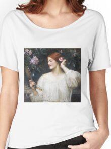 John William Waterhouse - Vanity.  Woman portrait: sensual woman, girly art, female style, pretty women, femine, beautiful dress Women's Relaxed Fit T-Shirt