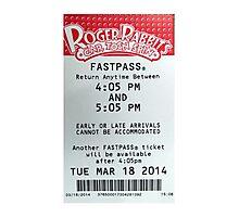 Roger Rabbit's Cartoon Spin Fastpass Photographic Print