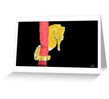 Lined Seahorse Greeting Card