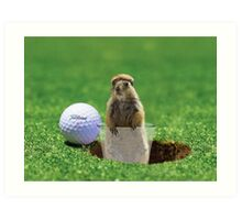 Gopher Golf Art Print