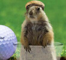 Gopher Golf Sticker