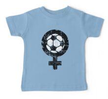 Frauenfußball zweifarbig Baby Tee