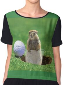 Gopher Golf Chiffon Top