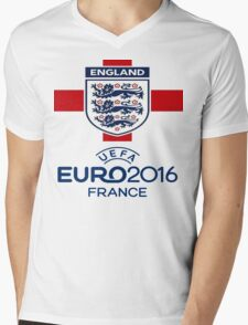 england football logo UEFA euro 2016 Mens V-Neck T-Shirt