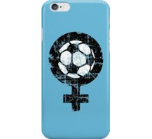 Women's Soccer Vintage Black&White iPhone Case/Skin