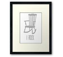 I rock Framed Print