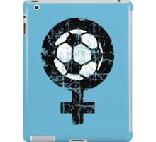 Women's Soccer Vintage Black&White iPad Case/Skin