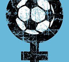 Frauenfußball zweifarbig by theshirtshops
