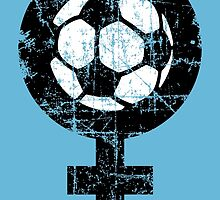Women's Soccer Vintage Black&White by theshirtshops