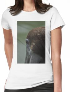 Juvenile Brown Pelican Womens Fitted T-Shirt