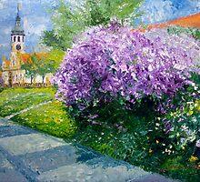 Prague Spring Loreta Lilacs  by Yuriy Shevchuk