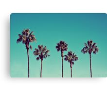 California Palm Trees Canvas Print