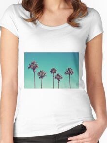 California Palm Trees Women's Fitted Scoop T-Shirt