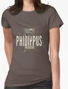 """Phidippus Mystaceus Jumping Spider """"Scrumpy"""" Tribute Womens Fitted T-Shirt"""