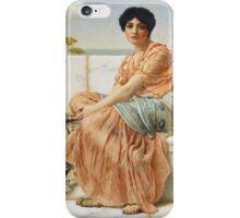 John William Godward - Reverie. Woman portrait: sensual woman, girly art, female style, pretty women, femine, beautiful dress, cute, creativity, love, sexy lady, erotic pose iPhone Case/Skin