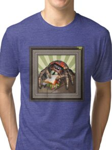 """Lunch on the Fly"" Jumping Spider Sandwich Tri-blend T-Shirt"