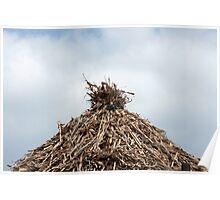 Drying Corn Stalks Poster