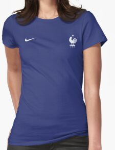 Euro 2016 Fooball- Team France Womens Fitted T-Shirt