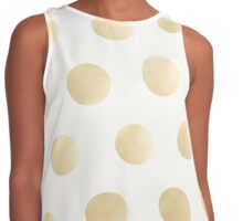 Gold Polka Dots - white Contrast Tank