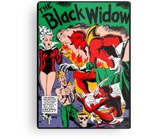 Black Widow Comic Page Metal Print