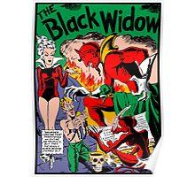 Black Widow Comic Page Poster