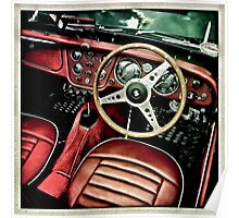 Red Leather interior  Poster