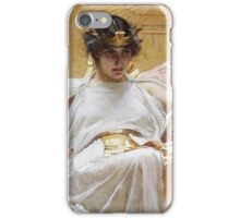 John William Waterhouse - Cleopatra . Woman portrait: sensual woman, girly art, female style, pretty women, femine, beautiful dress, cute, creativity, love, sexy lady, erotic pose iPhone Case/Skin