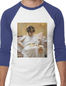 John William Waterhouse - Cleopatra . Woman portrait: sensual woman, girly art, female style, pretty women, femine, beautiful dress, cute, creativity, love, sexy lady, erotic pose Men's Baseball ¾ T-Shirt