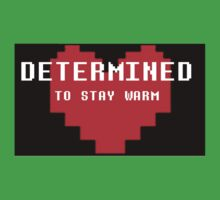 Undertale - DETERMINED to stay warm One Piece - Short Sleeve