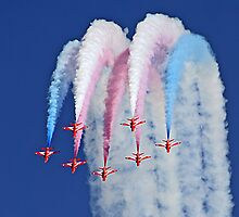 Red Arrows Cushion !! by Colin J Williams Photography