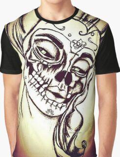 Victorian Lady SugarSkull Graphic T-Shirt