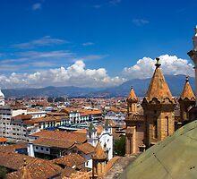 Rooftops Of Cuenca Ecuador West End by Al Bourassa