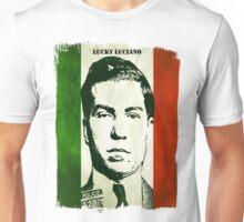 Lucky Luciano Italy Flag Unisex T-Shirt