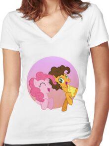 Pinkie Sandwich Women's Fitted V-Neck T-Shirt