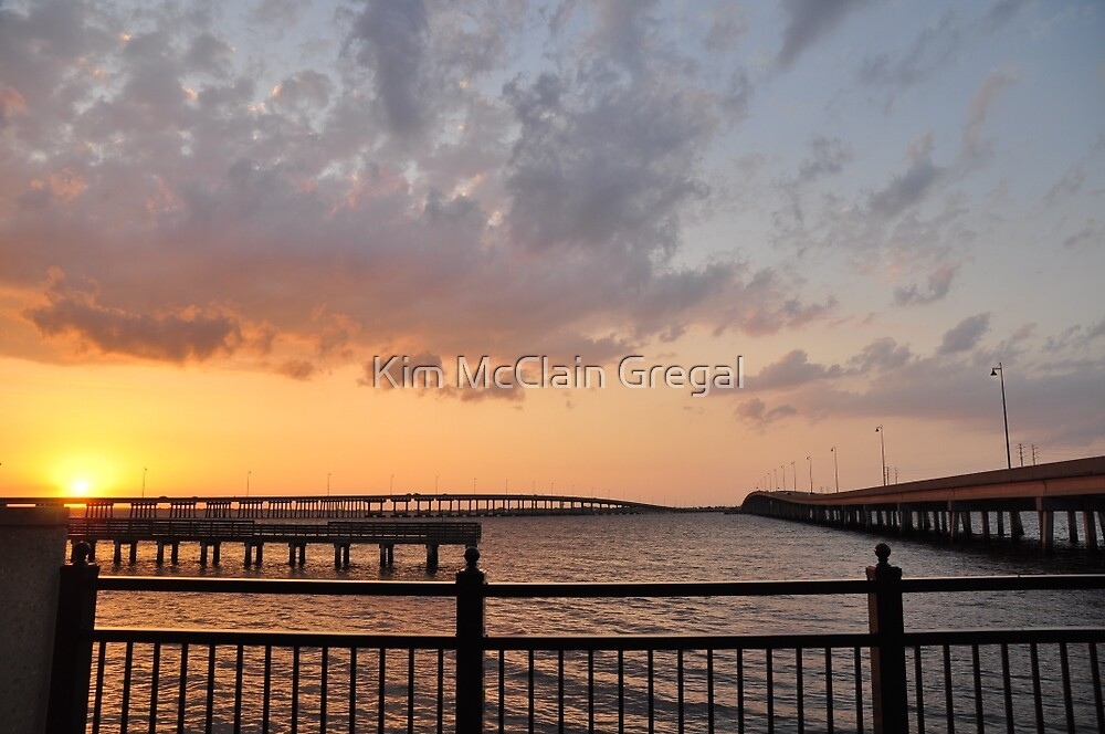 Charlotte Harbor at Sunset, As Is by Kim McClain Gregal