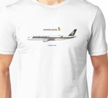 Illustration of Singapore Airlines Airbus A350 Unisex T-Shirt