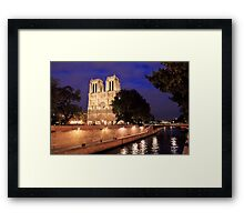 Brilliant Notre Dame from the River Framed Print