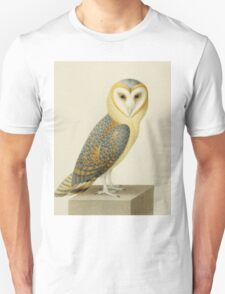 Joseph Nicolas Robert-Fleury - A Barn Owl. Bird painting: cute fowl, fly, wings, lucky, pets, wild life, animal, owls, little small, owl, nature Unisex T-Shirt