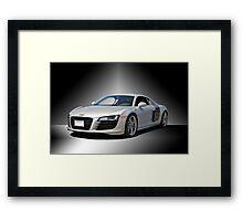 Audi 'Silver Fox' R8 II Studio Framed Print