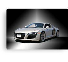 Audi 'Silver Fox' R8 II Studio Canvas Print