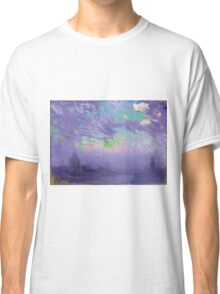 Joseph Pennell - Green, Blue And Purple (London View). Urban landscape: city view, streets, building, View Of London, trees, cityscape, architecture, construction, travel, panorama garden, buildings Classic T-Shirt