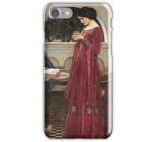 John William Waterhouse - The Crystal Ball . Woman portrait: sensual woman, girly art, female style, pretty women, femine, beautiful dress, cute, creativity, love, sexy lady, erotic pose iPhone Case/Skin