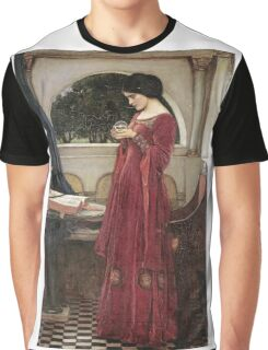 John William Waterhouse - The Crystal Ball . Woman portrait: sensual woman, girly art, female style, pretty women, femine, beautiful dress, cute, creativity, love, sexy lady, erotic pose Graphic T-Shirt